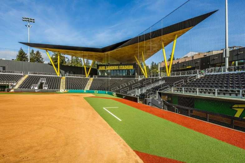 University of Oregon - Jane Sanders Softball Stadium - Built by Southern Bleacher - 4