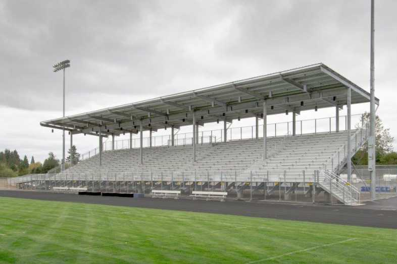 Hockinson School District - Football Bleachers - Built by Southern Bleacher - 1