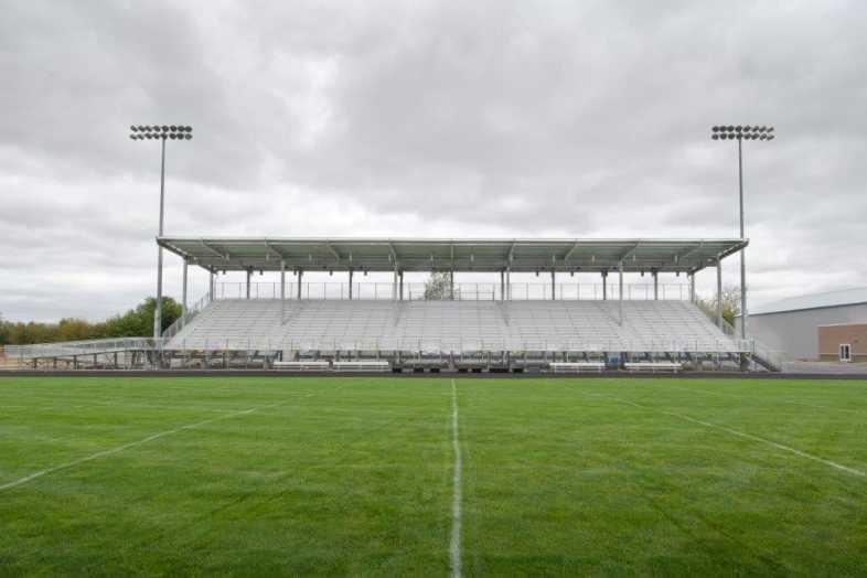 Hockinson School District - Football Bleachers - Built by Southern Bleacher - 2