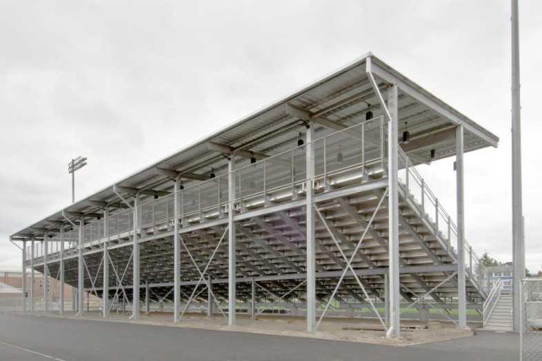 Hockinson School District - Football Bleachers - Built by Southern Bleacher - 5