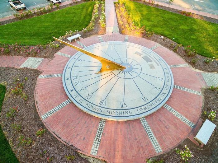 Sundial at Morehead Planetarium