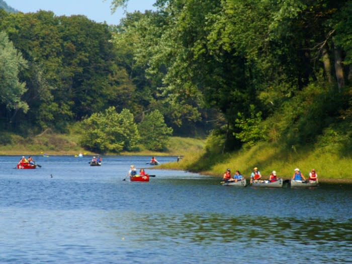 Canoeing in the Pocono Mountains