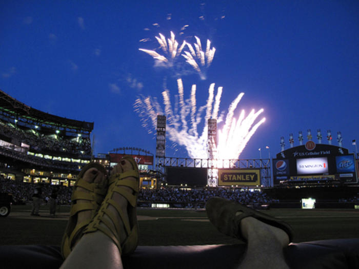 Fireworks at a White Sox game in Chicago