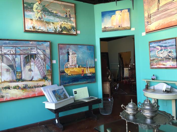 Blazek artwork at Burns Antik Haus