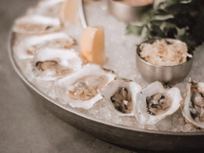 Davios Irvine Oysters on Half Shell