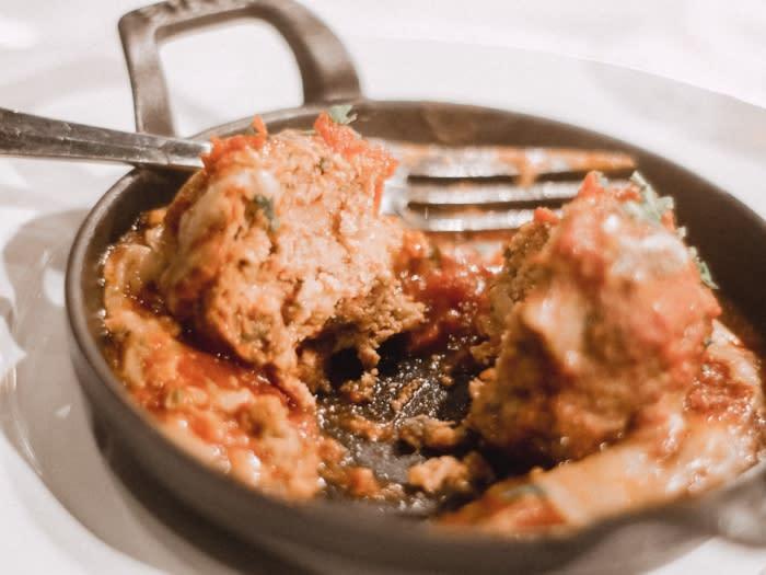 Davios Irvine Meatball Dish