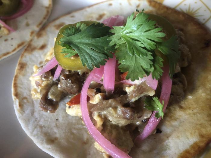 BCK Steak and egg taco