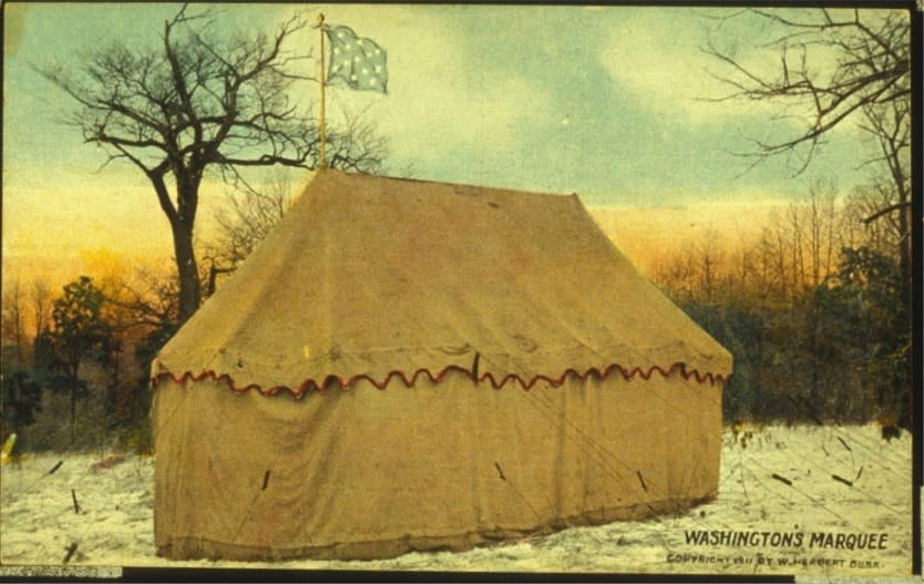 Washington's tent, once displayed at Valley Forge National Historical Park, is one of the centerpieces of Philadelphia's new Museum of the American Revolution, opening April 19, 2017. Photo courtesy of Valley Forge National Historical Park