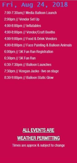 glbf friday schedule
