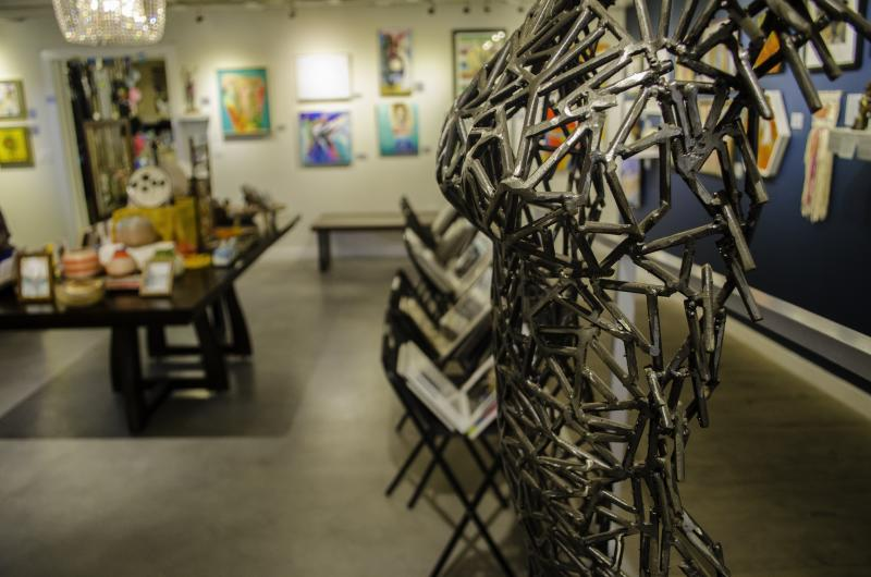 sculpture at Art For The People gallery in south Austin Texas