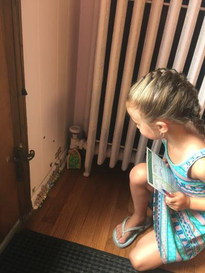 Little Girl on Fairy Door Trail