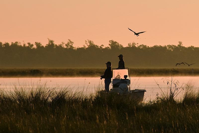 Fishing - Sunrise fishing at  Big Branch Marsh National Wildlife Refuge