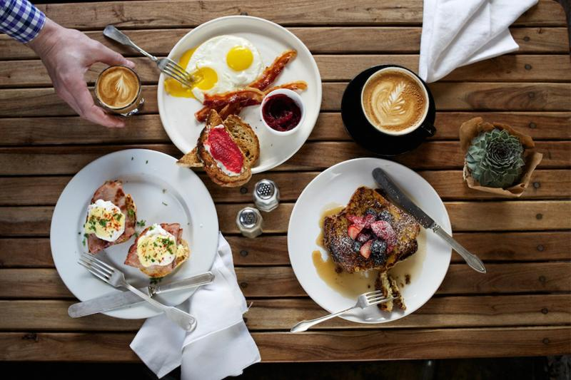 Brunch spread at Waltons Fancy and Staple.