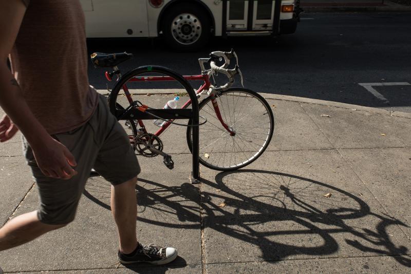 Bike on Bike Rack