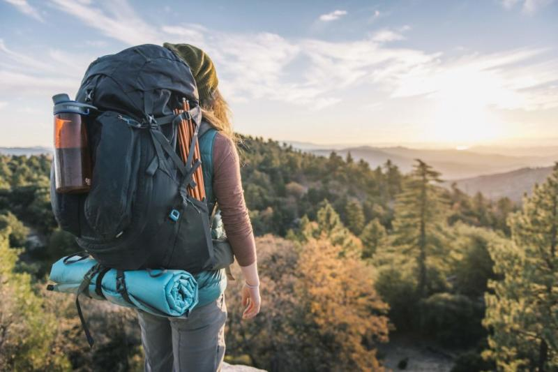 Female hiker looking off into the distance