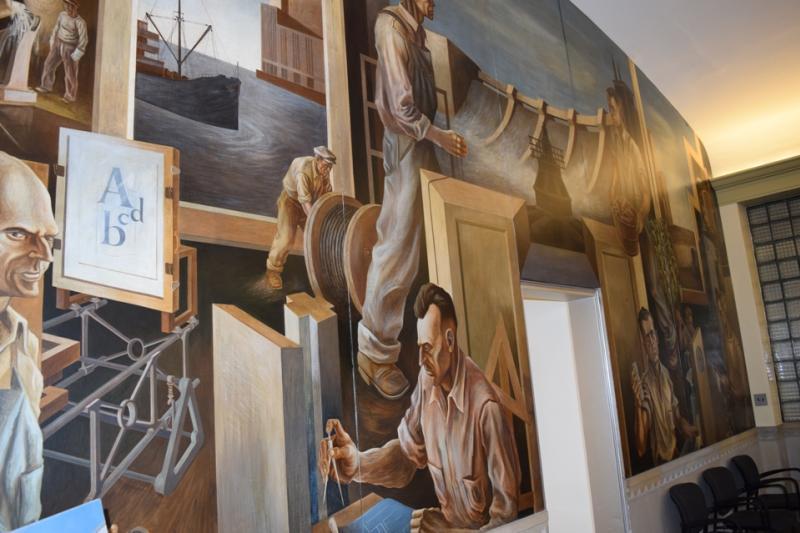 Board of Water & Light mural