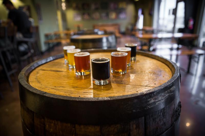Young Veterans Brewery Virginia Beach Inland Beer Flight