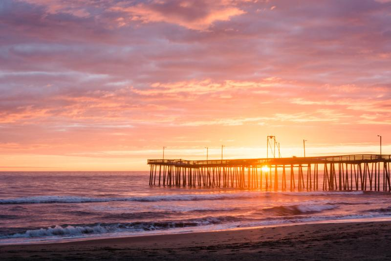 Virginia Beach Fishing Pier Sunrise