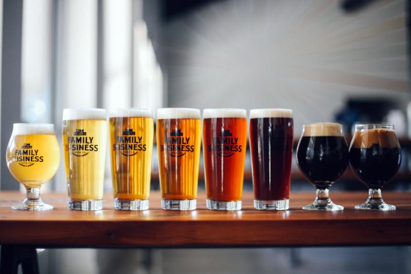 Hill Country brewery Family Business Beer Company beers Ghost White IPA Fox Rye Lager Hamilton Pale Ale Cosmic Cowboy IPA King Biscuit Haulin' Oats Winter Warmer Grackle Imperial Stout