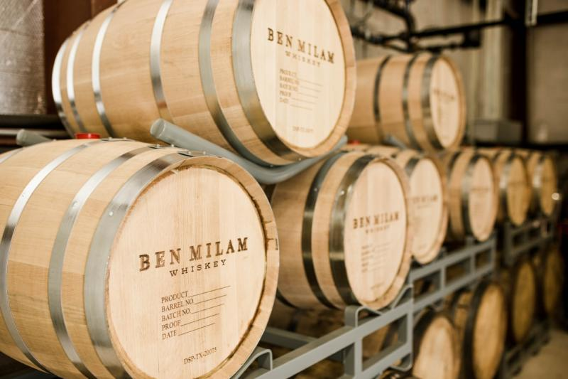 Ben Milam whiskey and bourbon Barrels austin texas