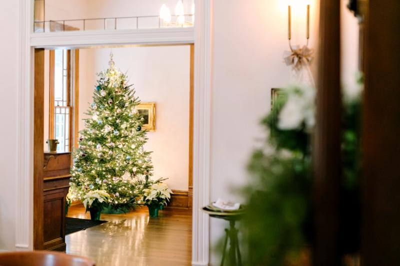 Matties Entryway with Christmas Tree in austin texas