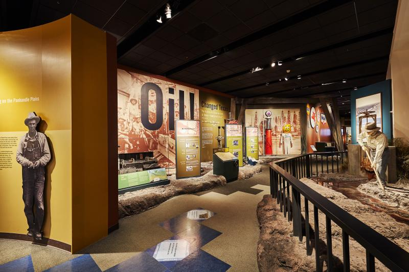 Texas History Exhibits at the Bullock Museum in Austin Texas