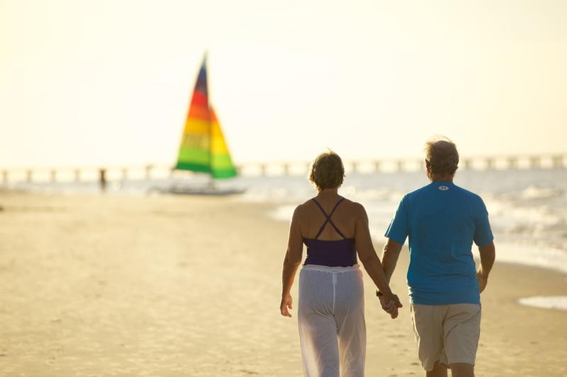 Chesapeake Bay Beach Couple Date Night