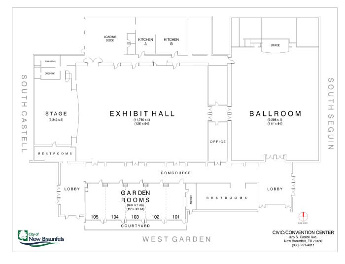 Civic Convention Center Layout