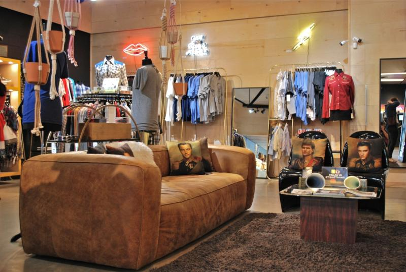 Triple Z Threadz store interior with apparel and accessories on South Congress in Austin Texas
