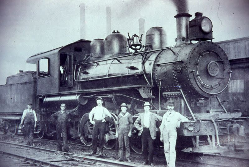 Historic photo of Train in Carrboro