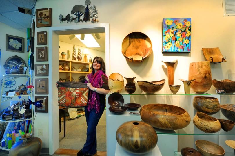 North Carolina Crafts Gallery, Sara Gress in Carrboro.JPG