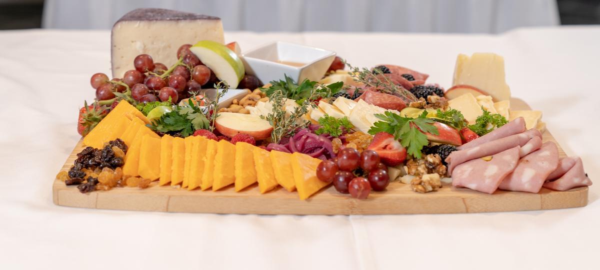 A vibrant Madison Concourse Hotel cheese board
