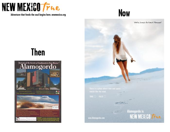 NM True Community Ads: Then and Now Alamogordo
