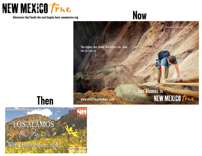 NM True Community Ads: Then and Now Los Alamos
