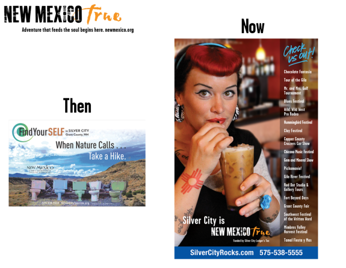 NM True Community Ads: Then and Now Silver City