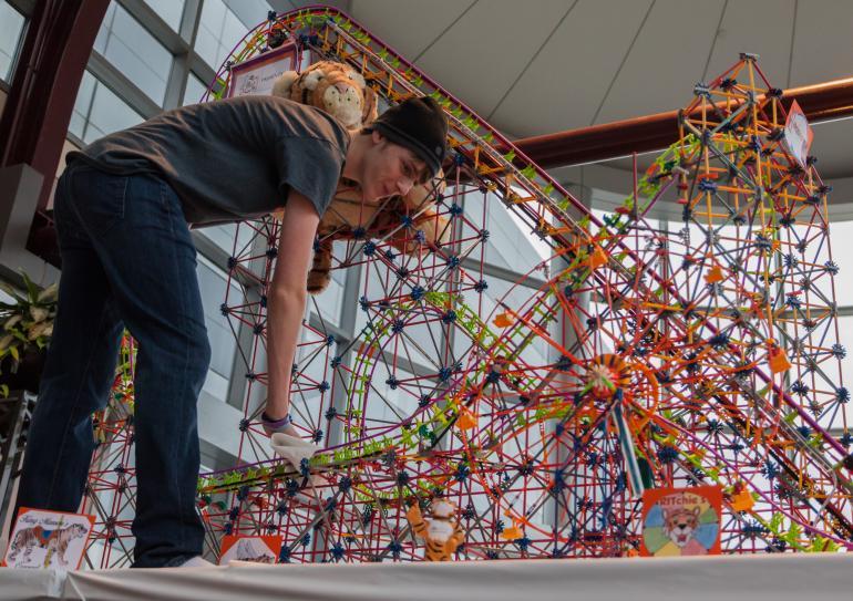 K'Nex Roller Coaster at Rochester Mini Maker Faire 2017