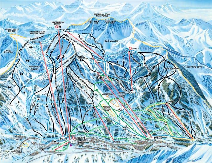 trail map snowbird