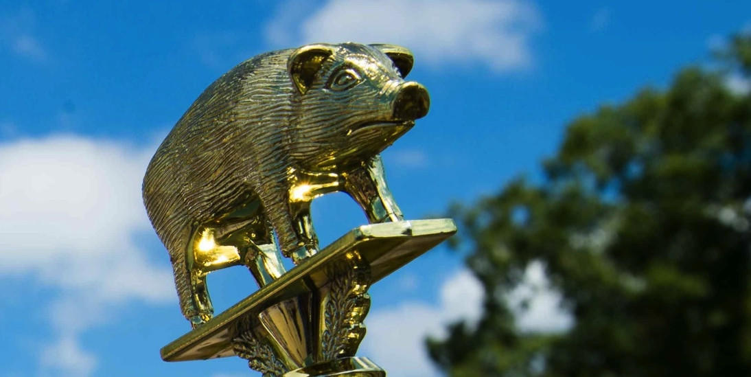 Pig shaped trophy