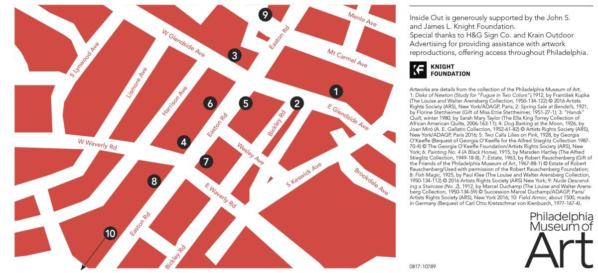 Glenside Inside Out Art Map