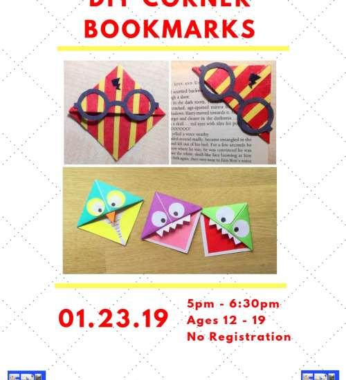 Make It Yourself Corner Bookmarks