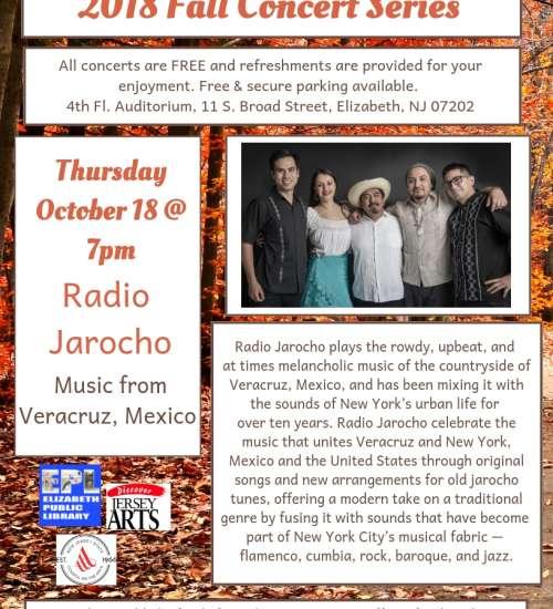Elizabeth Public Library Presents Our Concert Series--Radio Jarocho,  Music from Veracuz, Mexico