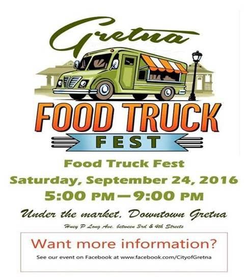 Gretna Food Truck Festival flyer
