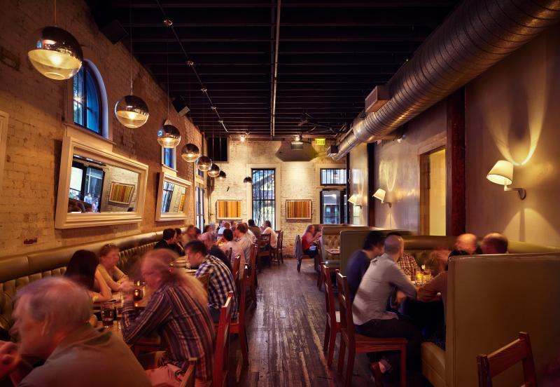 Lamberts Barbecue Restaurant Interior In Downtown Austin Texas