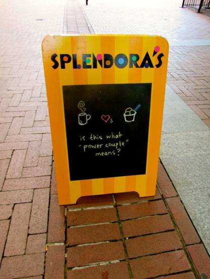 Splendora's Sign on the Downtown Mall