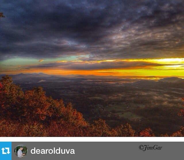 Roanoke Mountain Fall Sunrise - Fall Photo