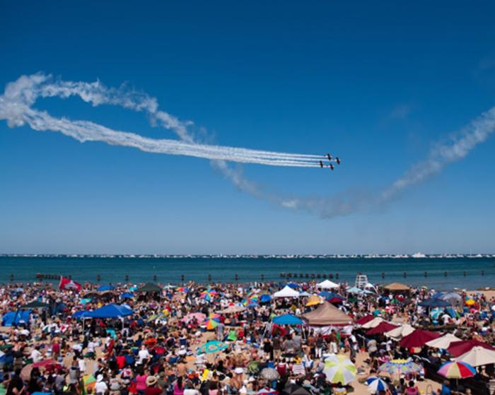 The Chicago Air and Water Show from Castaways