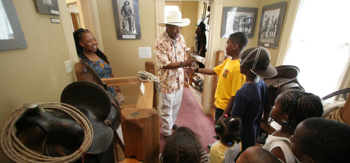 Interior shot of the Black American West Museum