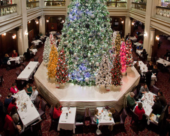 Enormous Christmas Tree at Walnut Room