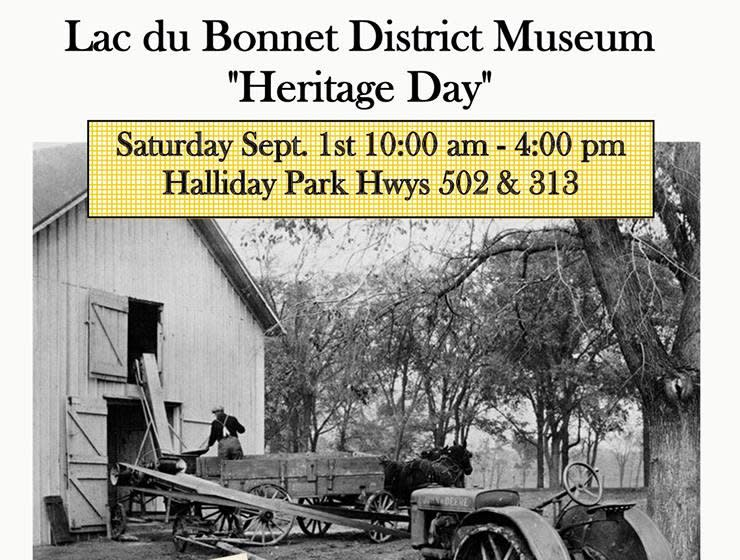 Heritage Day Lac du Bonnet