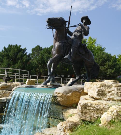 Buffalo Solider Monument at Fort Leavenworth - Kansas